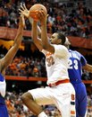 Syracuse's Kris Joseph drives to the basket against Seton Hall during the second half of an NCAA college basketball game in Syracuse, N.Y., Tuesday, Jan. 25, 2011. Seton Hall defeated No. 9 Syracuse 90-68.