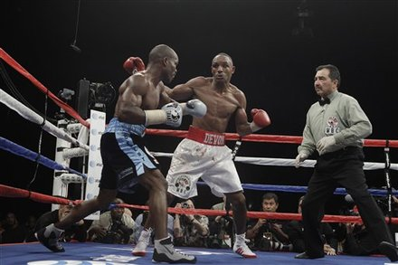 Timothy Bradley, Left, And Devon Alexander Fight