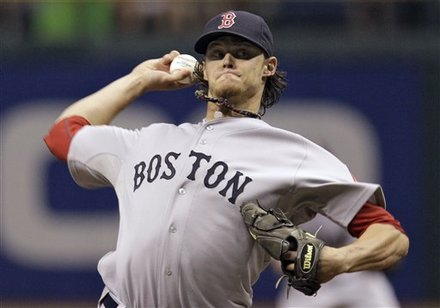 Boston Red Sox Starting Pitcher Clay Buchholz Delivers