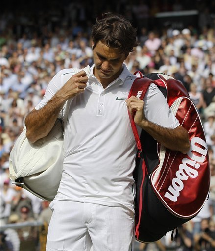Switzerland's Roger Federer Leaves