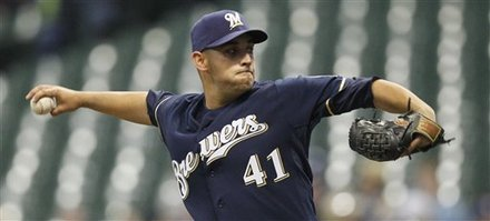Milwaukee Brewers Starting Pitcher Marco Estrada Delivers