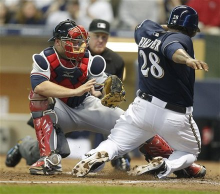 Milwaukee Brewers' Prince Fielder(28) Scores