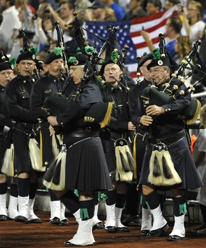 Bagpipers Perform In A Sept. 11 Remembrance Ceremony