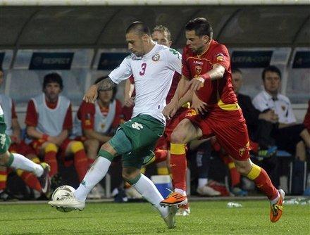 Bulgaria's Ivan Bandalovski, Left, Challenges