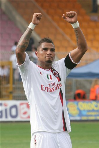 AC Milan''s Kevin-Prince Boateng, Of Germany, Celebrates