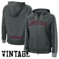adidas Lafayette College Leopards Ladies Charcoal College Town Full Zip Vintage Hoody Sweatshirt