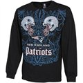 New England Patriots Faceoff Long Sleeve T-Shirt - Black