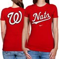 Nike Washington Nationals Ladies Red Local T-shirt