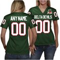 Mississippi Valley State Delta Devils Women's Personalized Fashion Football Jersey - Forest Green
