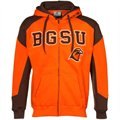 Bowling Green State Falcons Brown-Orange Challenger Full Zip Hoody Sweatshirt