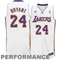 adidas Kobe Bryant Los Angeles Lakers Revolution 30 Swingman Performance Jersey - White