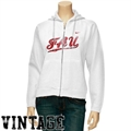 Nike Florida Atlantic University Owls Ladies White Classic Full Zip Vintage Hoody Sweatshirt