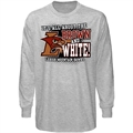 Lehigh Mountain Hawks Ash All About Brown & White Long Sleeve T-shirt