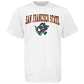 San Francisco State Gators White Youth Bare Essentials T-shirt