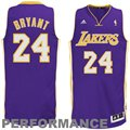 adidas Kobe Bryant Los Angeles Lakers Revolution 30 Swingman Performance Jersey - Purple