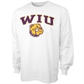 Western Illinois Leathernecks White Bare Essentials Long Sleeve T-shirt