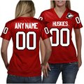 Northern Illinois Huskies Women's Personalized Fashion Football Jersey - Red