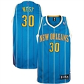 adidas New Orleans Hornets #30 David West Teal Road Swingman Basketball Jersey