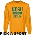 North Dakota State Bison Gold Custom Sport Long Sleeve T-shirt -