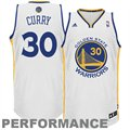 adidas Stephen Curry Golden State Warriors Revolution 30 Swingman Performance Jersey - White