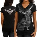 Chase Authentics Jamie McMurray Ladies Foil Premium T-Shirt - Black
