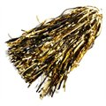 Black-Gold Metallic Rooter Pom