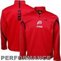 Under Armour Utah Utes Red 2011 Sideline Quarter-Zip Performance Fleece
