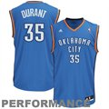 adidas Kevin Durant Oklahoma City Thunder Revolution 30 Performance Jersey-Royal Blue