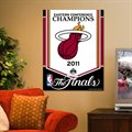 Miami Heat 2011 NBA Eastern Conference Champions Vertical Banner Flag