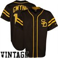 Majestic Tony Gwynn San Diego Padres Throwback Heater Jersey - Brown