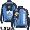 San Diego Chargers Light Blue AFL 50th Anniversary Legacy Vintage Heavyweight Canvas Jacket
