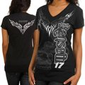 Chase Authentics Matt Kenseth Ladies Foil Premium T-Shirt - Black