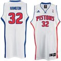 adidas Detroit Pistons #32 Richard Hamilton White Home Swingman Jersey