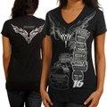 Chase Authentics Greg Biffle Ladies Foil Premium T-Shirt - Black