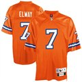 Reebok NFL Equipment Denver Broncos #7 John Elway Orange Tackle Twill Throwback Football Jersey