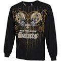 New Orleans Saints Faceoff Long Sleeve T-Shirt - Black