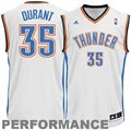 adidas Kevin Durant Oklahoma City Thunder Revolution 30 Swingman Performance Jersey-White