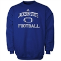 adidas Jackson State Tigers Royal Blue Collegiate Crew Sweatshirt