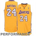 adidas Kobe Bryant Los Angeles Lakers Revolution 30 Swingman Performance Jersey-Gold