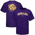 adidas Western Illinois Leathernecks Purple Relentless T-shirt