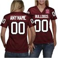 Alabama A&M Bulldogs Women's Personalized Fashion Football Jersey - Maroon