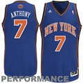 adidas Carmelo Anthony New York Knicks Revolution 30 Swingman Performance Jersey - Royal Blue