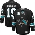 Reebok San Jose Sharks #19 Joe Thornton Black Premier Hockey Jersey
