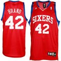 adidas Philadelphia 76ers #42 Elton Brand Red Swingman Basketball Jersey