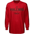adidas California University of Pennsylvania Vulcans Red Sideline Long Sleeve T-shirt