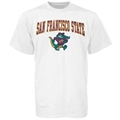 San Francisco State Gators White Bare Essentials T-shirt