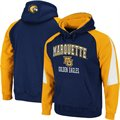 Marquette Golden Eagles Navy Blue-Gold Playmaker Pullover Hoodie Sweatshirt