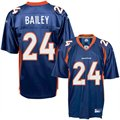 Reebok NFL Equipment Denver Broncos #24 Champ Bailey Navy Replica Football Jersey