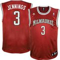 adidas Milwaukee Bucks #3 Brandon Jennings Red Replica Basketball Jersey