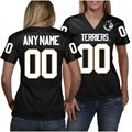 Wofford Terriers Women's Personalized Fashion Football Jersey - Black